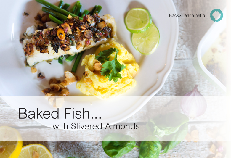 Baked Fish with Slivered Almonds