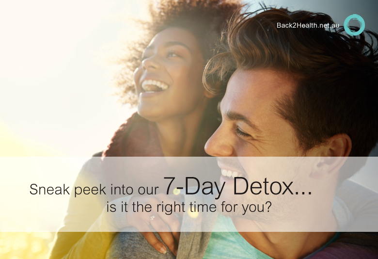 Sneak peek into our seven-day detox, is it the right time for you?