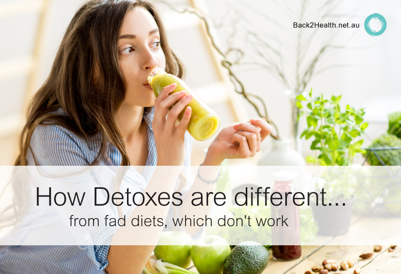 How detoxes are different from fad diets, which don't work